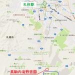 真駒内滝野霊園広域地図